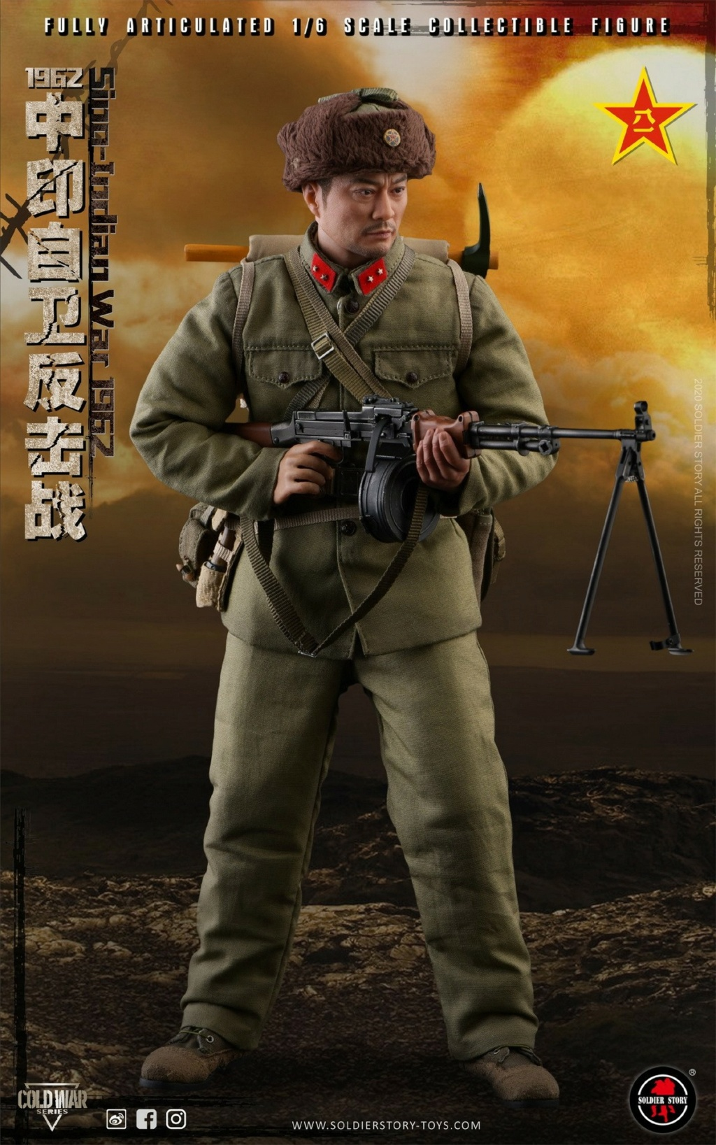 "NEW PRODUCT: SoldierStory: 1/6 ""1962 Sino-Indian Self-Defense Counterattack"" Action Figure #SS121 22320210"
