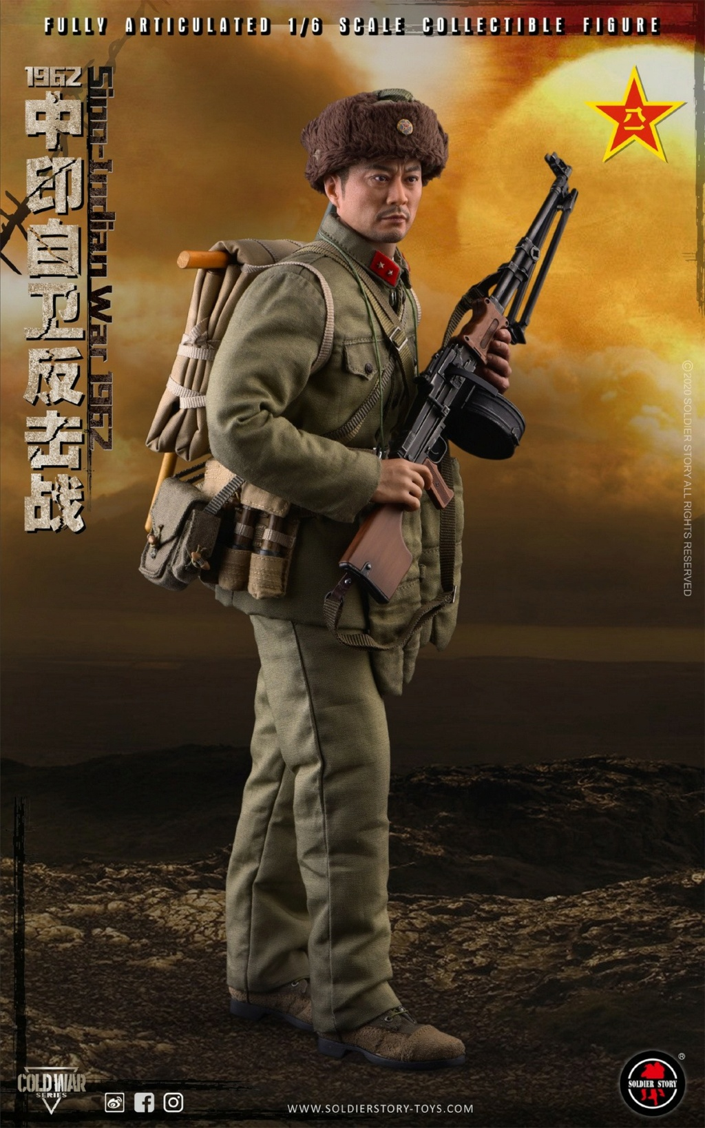 "NEW PRODUCT: SoldierStory: 1/6 ""1962 Sino-Indian Self-Defense Counterattack"" Action Figure #SS121 22321110"