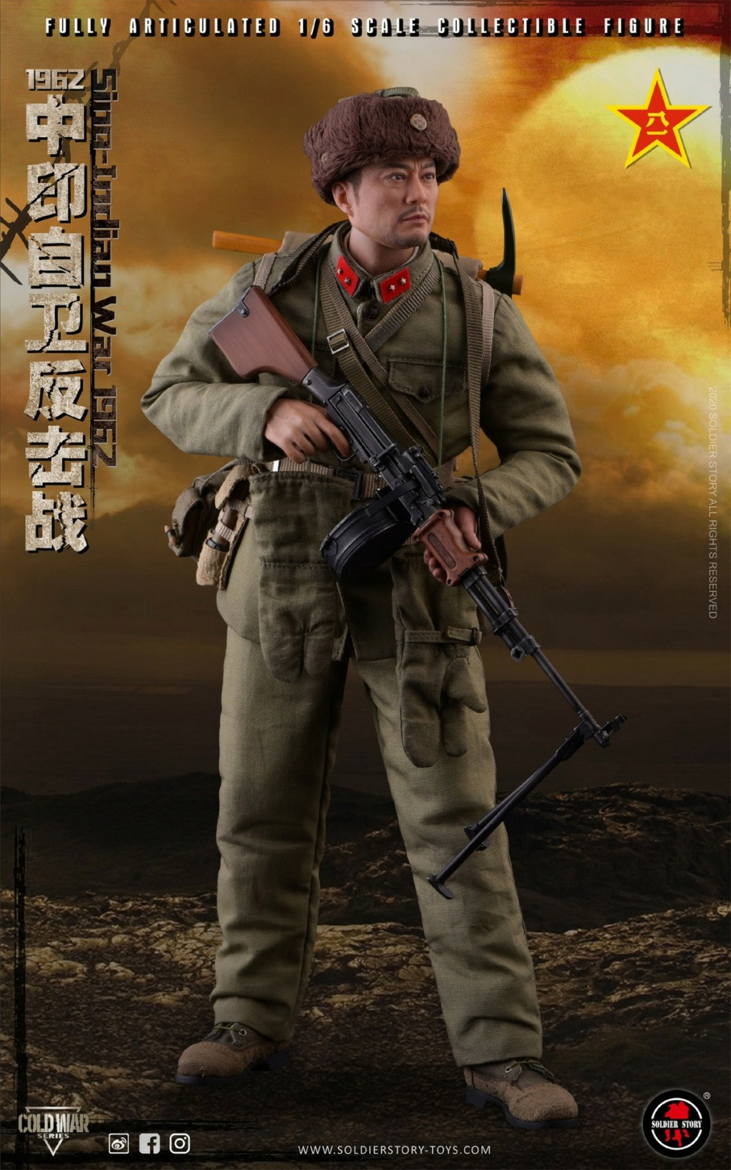 "NEW PRODUCT: SoldierStory: 1/6 ""1962 Sino-Indian Self-Defense Counterattack"" Action Figure #SS121 22322110"