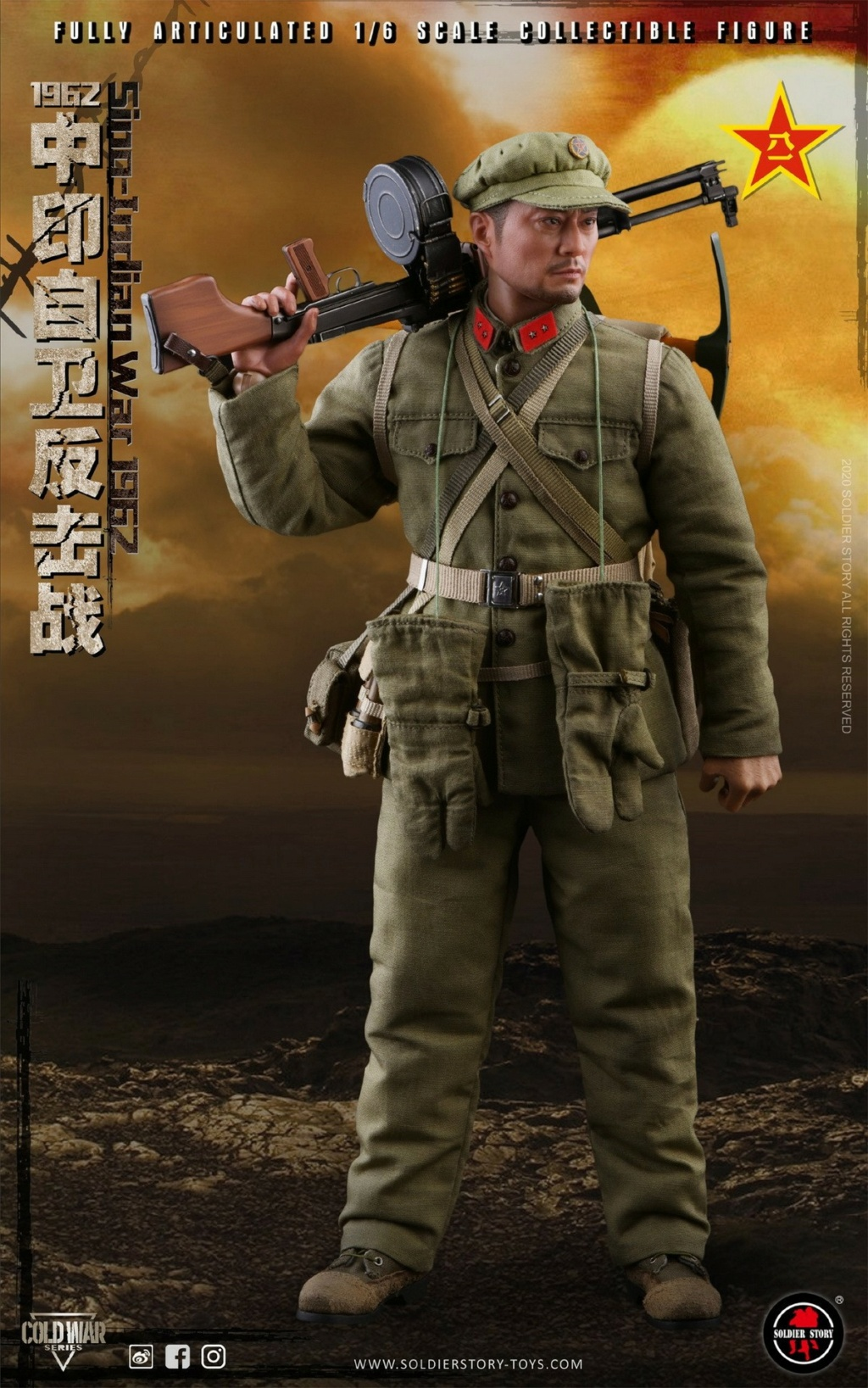 "NEW PRODUCT: SoldierStory: 1/6 ""1962 Sino-Indian Self-Defense Counterattack"" Action Figure #SS121 22322610"