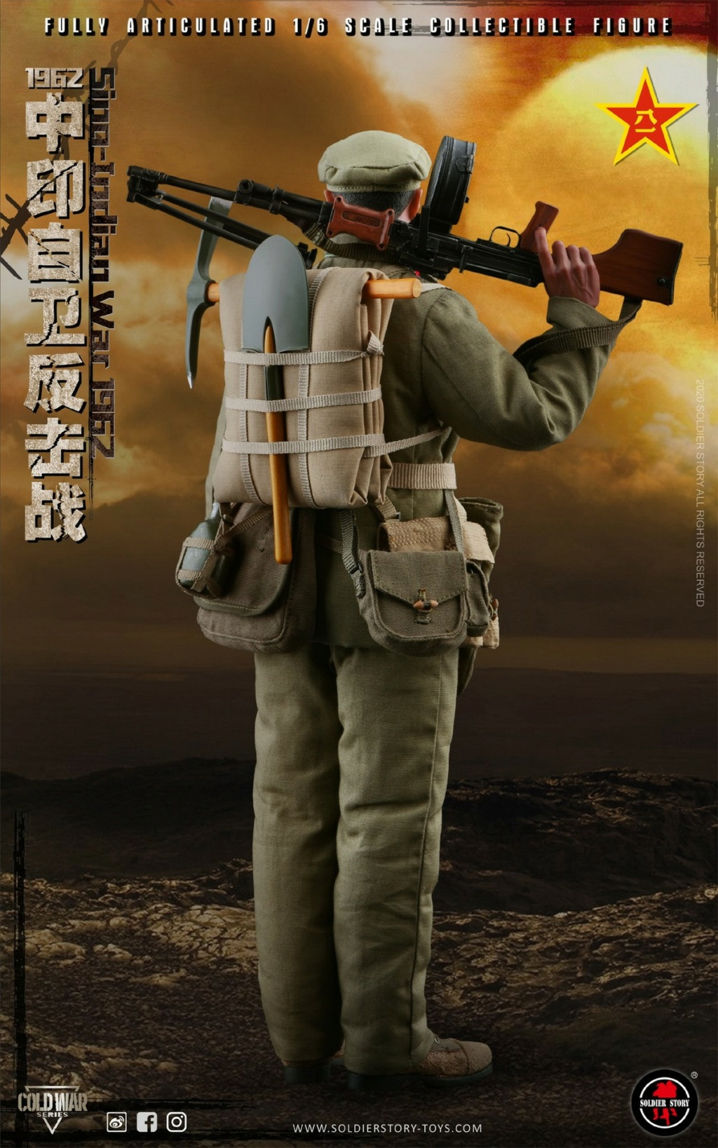 "NEW PRODUCT: SoldierStory: 1/6 ""1962 Sino-Indian Self-Defense Counterattack"" Action Figure #SS121 22331510"