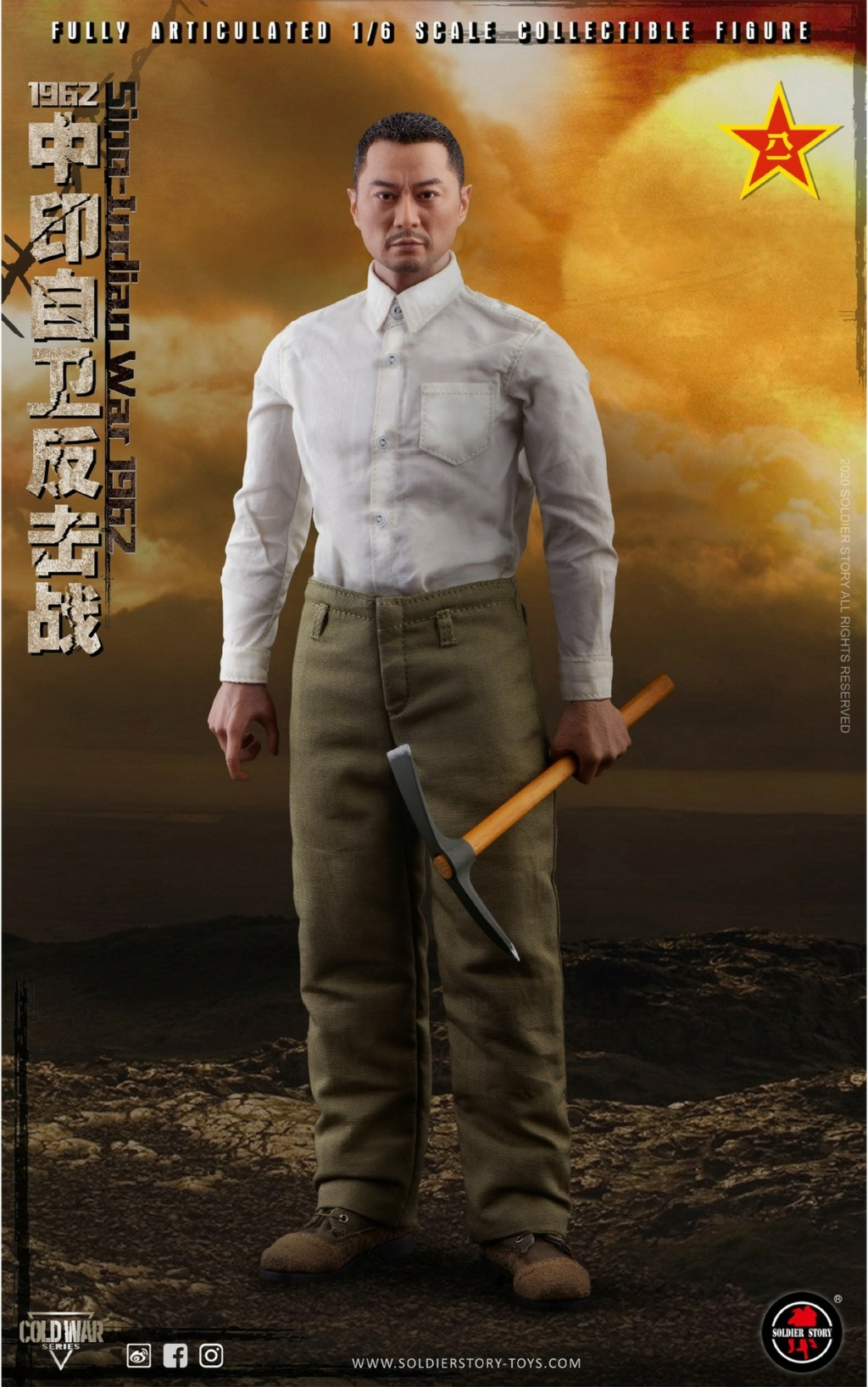 "NEW PRODUCT: SoldierStory: 1/6 ""1962 Sino-Indian Self-Defense Counterattack"" Action Figure #SS121 22332711"