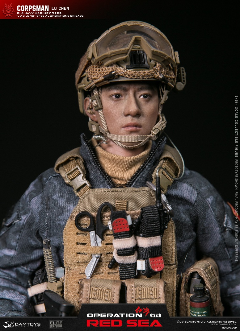 "SpecialBattleBrigade - NEW PRODUCT: DAMTOYS: 1/6 Red Sea Action-PLA Marine Corps ""蛟龙"" Special Battle Brigade Medical Staff Lu Wei DMS009 22333510"