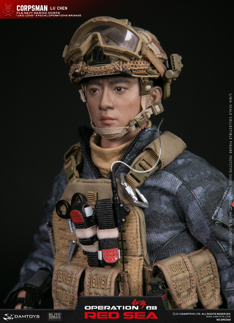 "SpecialBattleBrigade - NEW PRODUCT: DAMTOYS: 1/6 Red Sea Action-PLA Marine Corps ""蛟龙"" Special Battle Brigade Medical Staff Lu Wei DMS009 22335010"