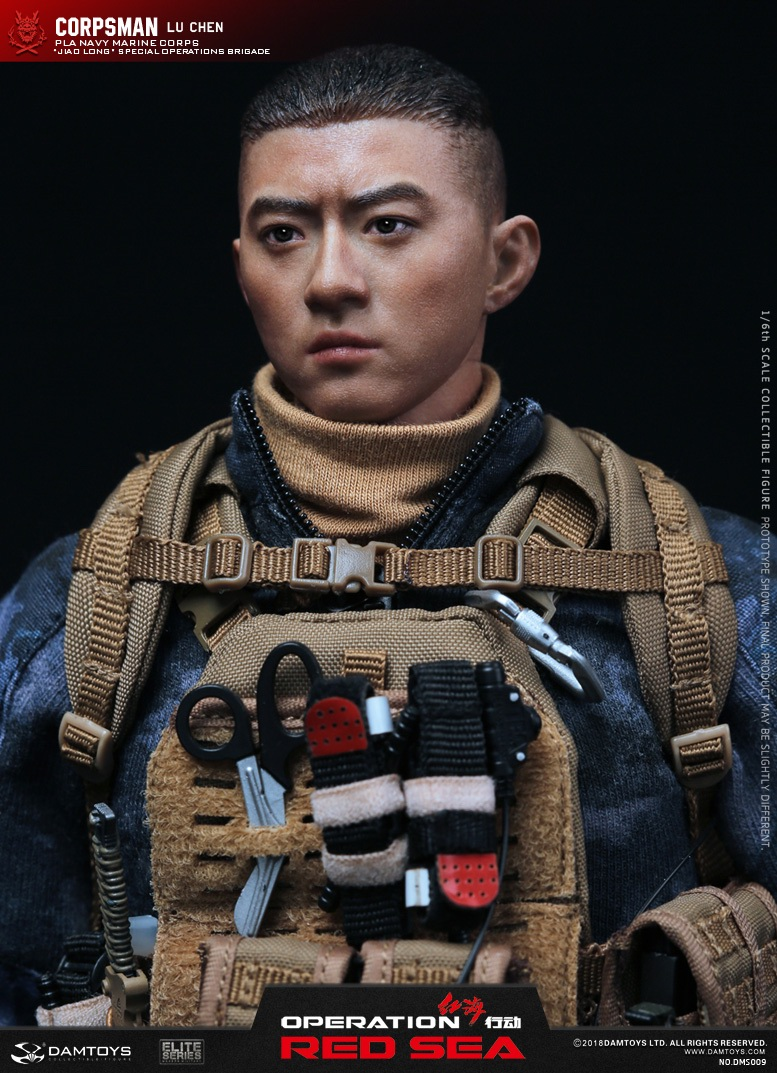 "SpecialBattleBrigade - NEW PRODUCT: DAMTOYS: 1/6 Red Sea Action-PLA Marine Corps ""蛟龙"" Special Battle Brigade Medical Staff Lu Wei DMS009 22335410"