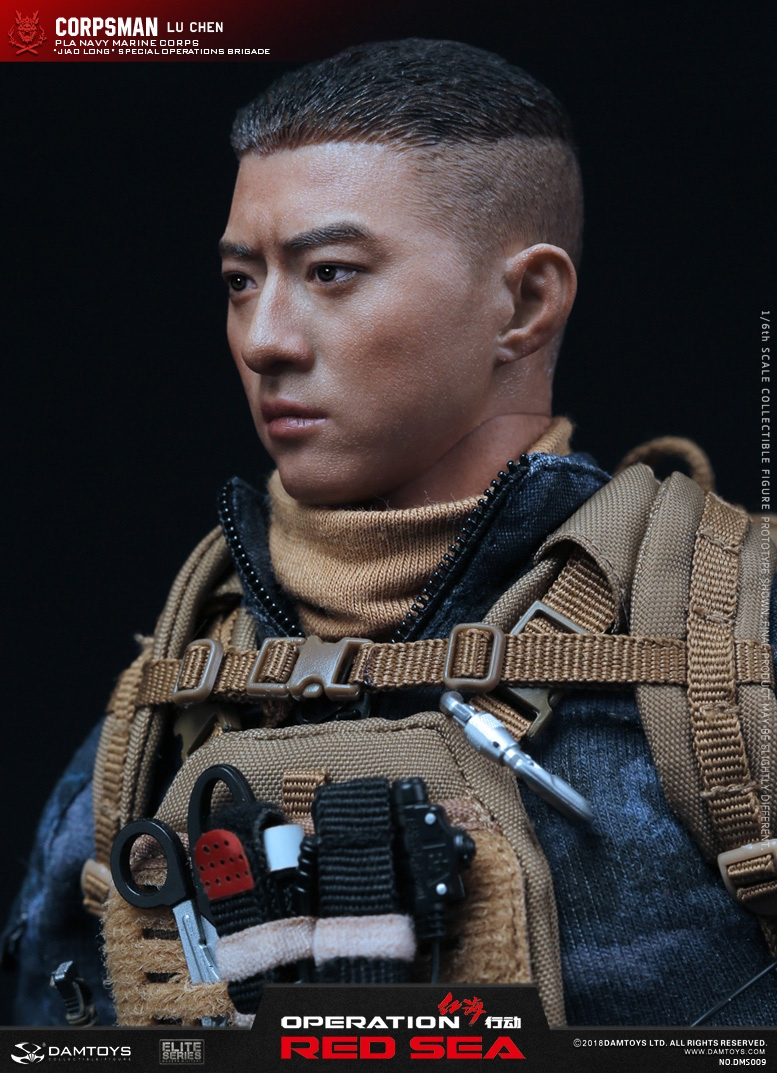 "SpecialBattleBrigade - NEW PRODUCT: DAMTOYS: 1/6 Red Sea Action-PLA Marine Corps ""蛟龙"" Special Battle Brigade Medical Staff Lu Wei DMS009 22335710"