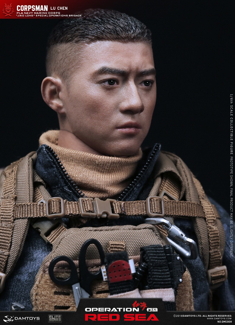 "SpecialBattleBrigade - NEW PRODUCT: DAMTOYS: 1/6 Red Sea Action-PLA Marine Corps ""蛟龙"" Special Battle Brigade Medical Staff Lu Wei DMS009 22335910"