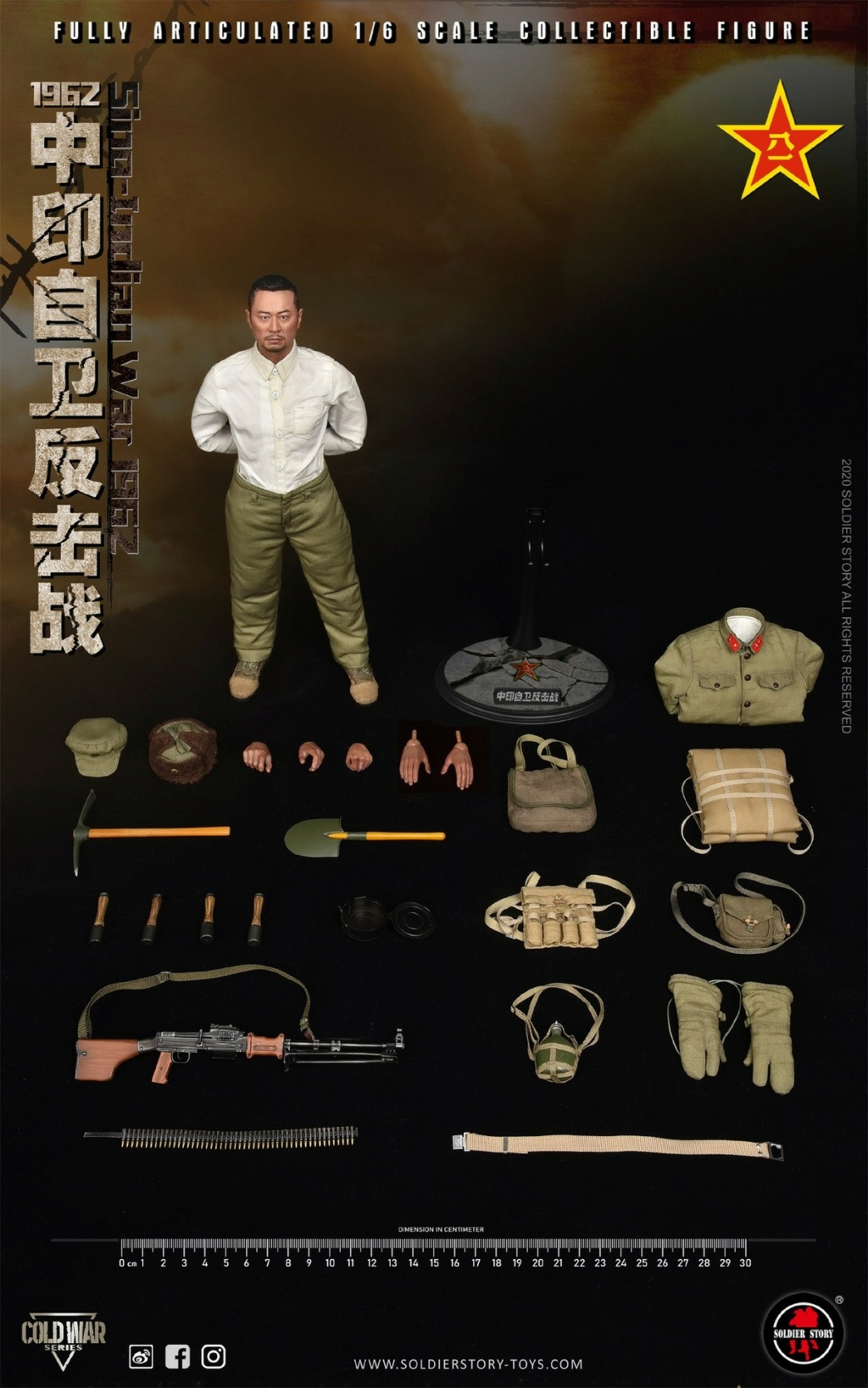 "NEW PRODUCT: SoldierStory: 1/6 ""1962 Sino-Indian Self-Defense Counterattack"" Action Figure #SS121 22352110"