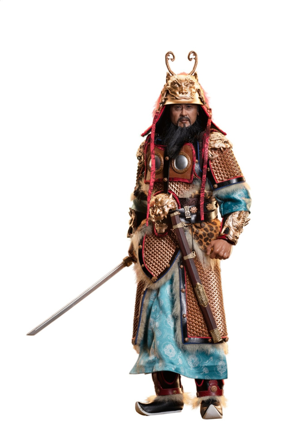 "General - NEW PRODUCT: Tiangongfang: 1/6 Tang Dynasty ""Eight Duke""-General Lion Head (handmade brass mountain armor, fish scale armor) 22393511"