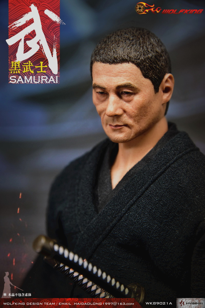 NEW PRODUCT: WOLFKING: 1/6 Black Warrior SAMURAI - Head Carving Costume Set (WK89021A.BCD) 22402210