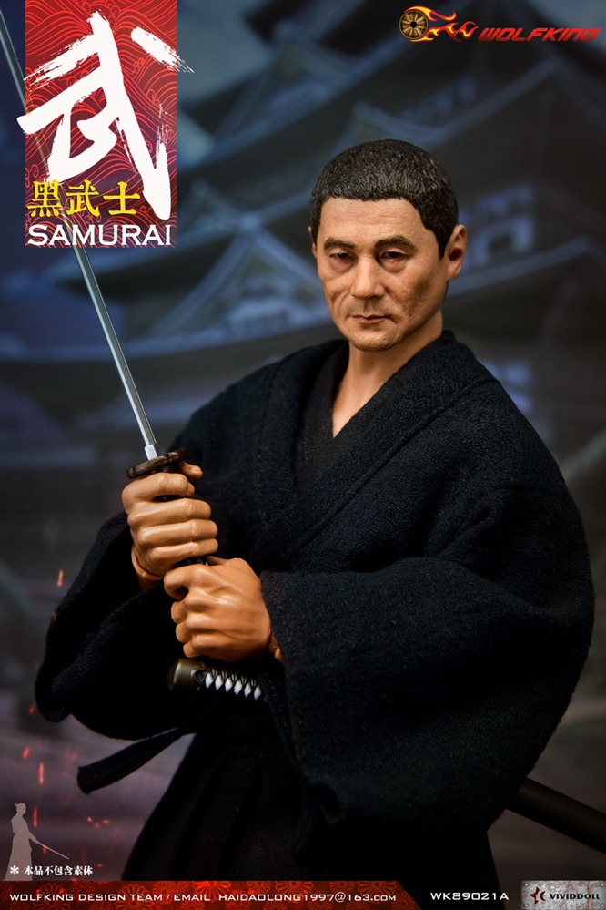 headsculpt - NEW PRODUCT: WOLFKING: 1/6 Black Warrior SAMURAI - Head Carving Costume Set (WK89021A.BCD) 22402410