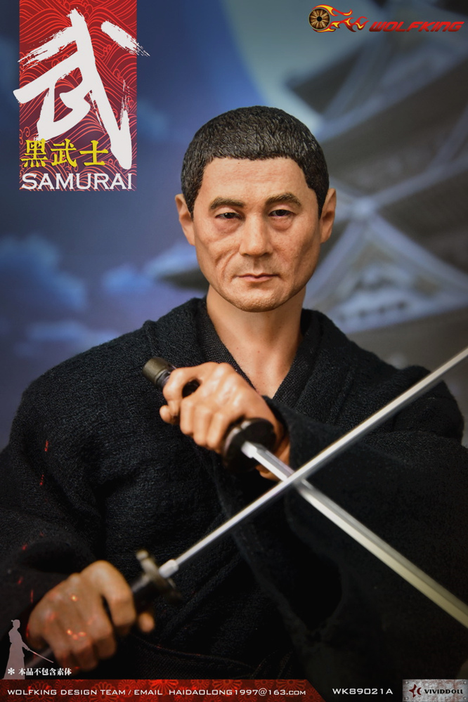 headsculpt - NEW PRODUCT: WOLFKING: 1/6 Black Warrior SAMURAI - Head Carving Costume Set (WK89021A.BCD) 22402910