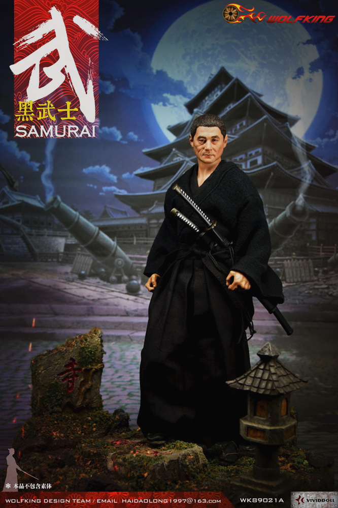 NEW PRODUCT: WOLFKING: 1/6 Black Warrior SAMURAI - Head Carving Costume Set (WK89021A.BCD) 22403510