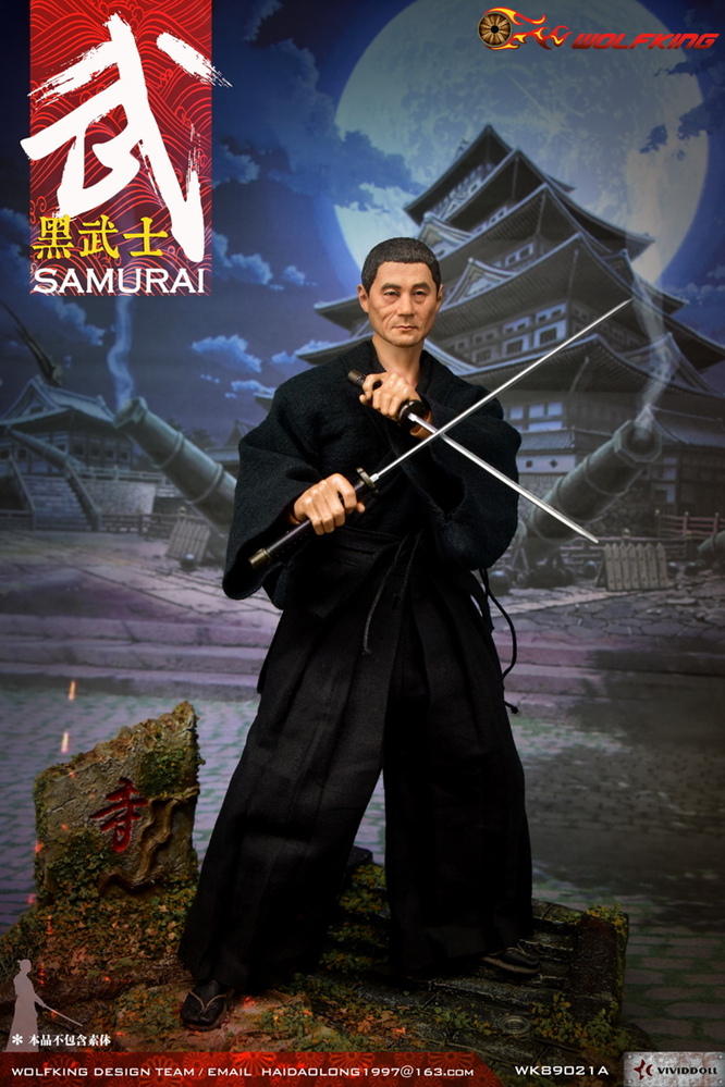 NEW PRODUCT: WOLFKING: 1/6 Black Warrior SAMURAI - Head Carving Costume Set (WK89021A.BCD) 22403810