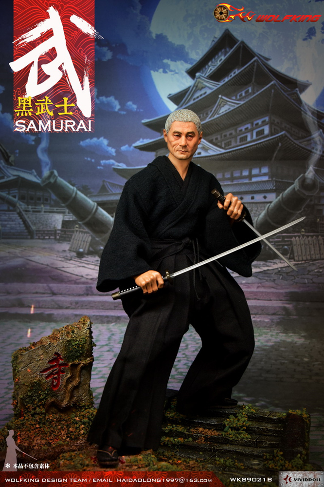 NEW PRODUCT: WOLFKING: 1/6 Black Warrior SAMURAI - Head Carving Costume Set (WK89021A.BCD) 22404610