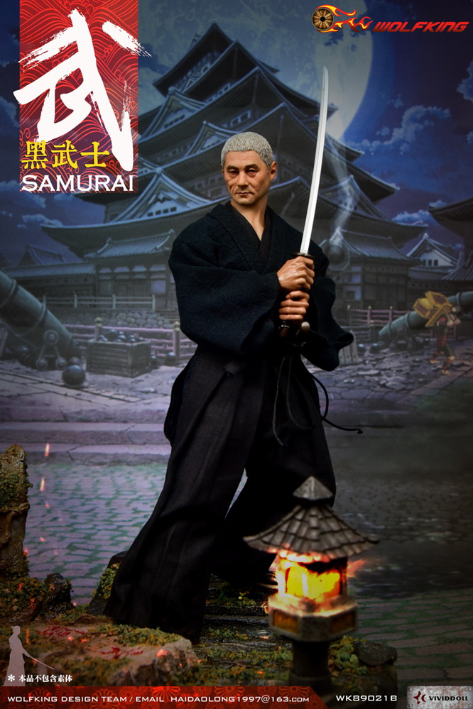 NEW PRODUCT: WOLFKING: 1/6 Black Warrior SAMURAI - Head Carving Costume Set (WK89021A.BCD) 22404910