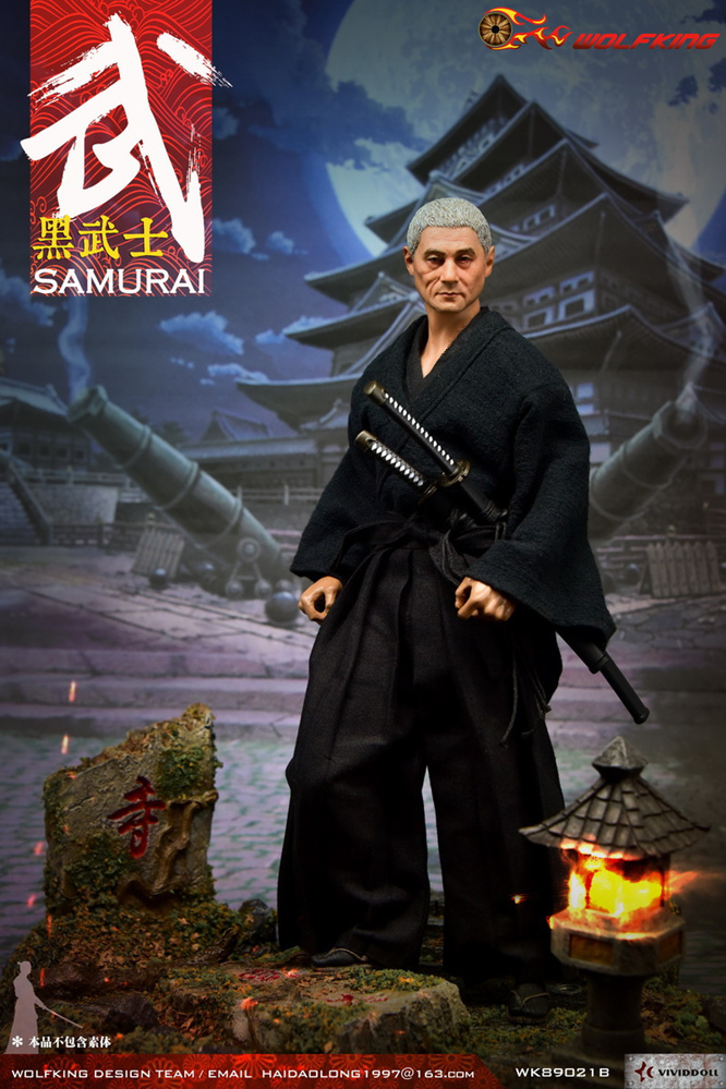 NEW PRODUCT: WOLFKING: 1/6 Black Warrior SAMURAI - Head Carving Costume Set (WK89021A.BCD) 22405510