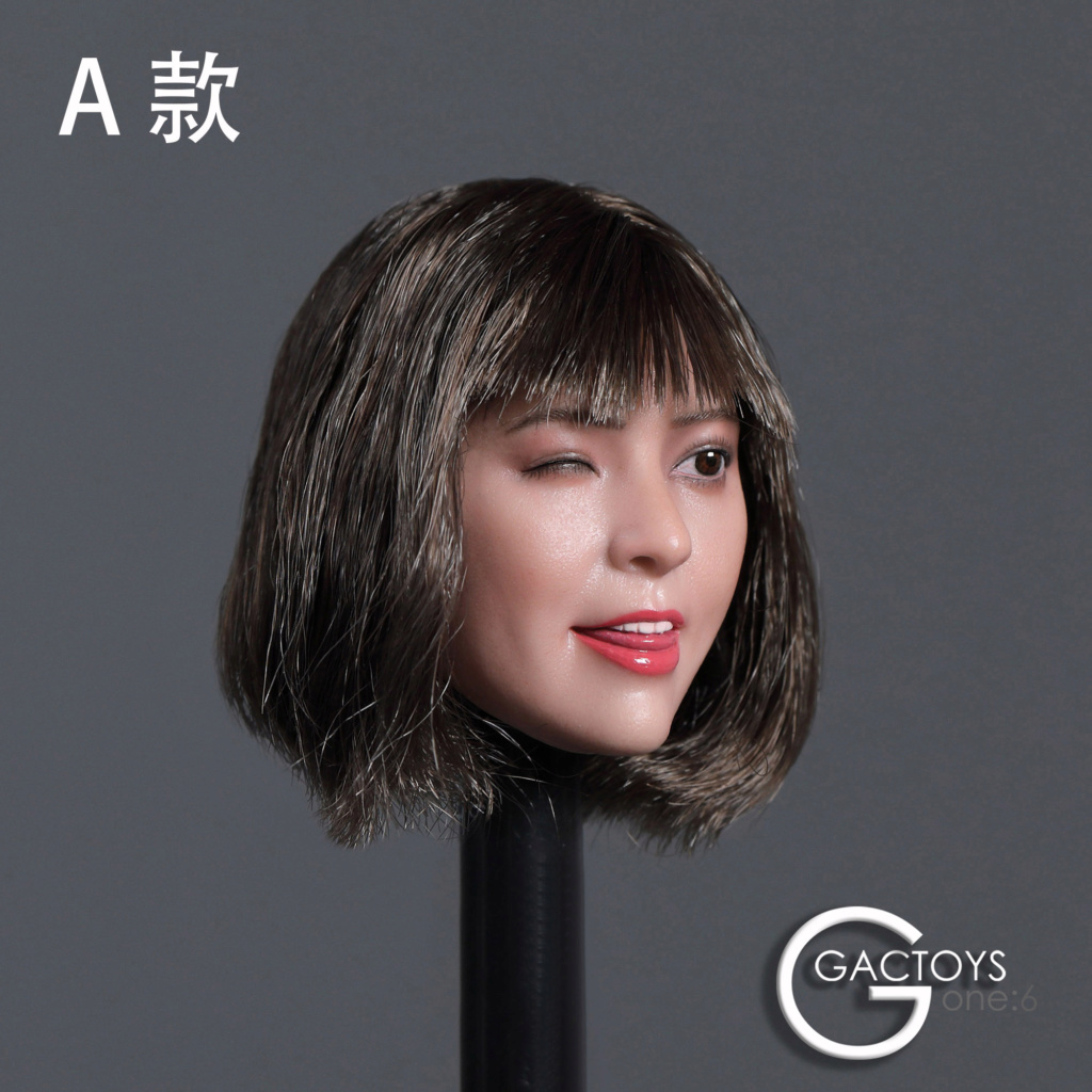headsculpt - NEW PRODUCT: GACTOYS: 1/6 Cute Selling Cute Girl Head Sculpture [GC036] [A, B, C, D, 4 models] 22453010
