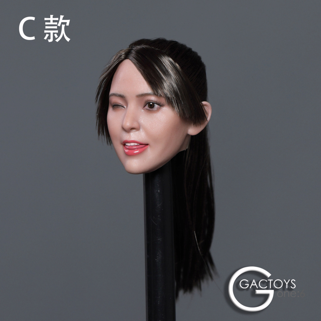 headsculpt - NEW PRODUCT: GACTOYS: 1/6 Cute Selling Cute Girl Head Sculpture [GC036] [A, B, C, D, 4 models] 22453210