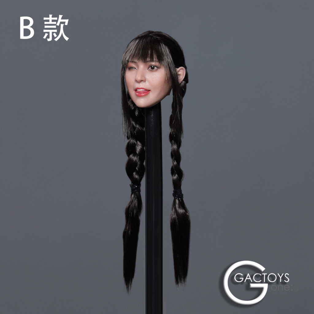 headsculpt - NEW PRODUCT: GACTOYS: 1/6 Cute Selling Cute Girl Head Sculpture [GC036] [A, B, C, D, 4 models] 22453310