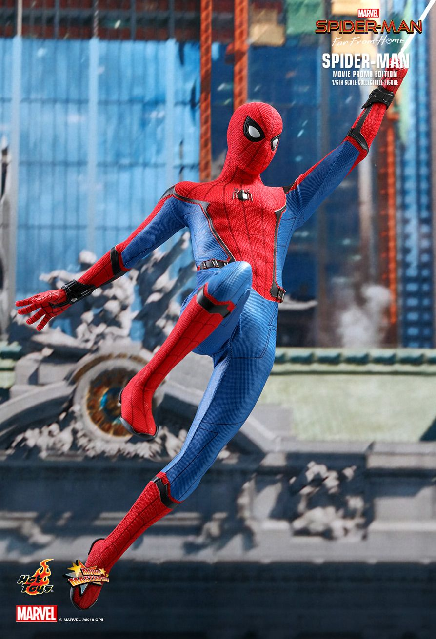 marvel - NEW PRODUCT: HOT TOYS: SPIDER-MAN: FAR FROM HOME SPIDER-MAN (MOVIE PROMO EDITION) 1/6TH SCALE COLLECTIBLE FIGURE 2302