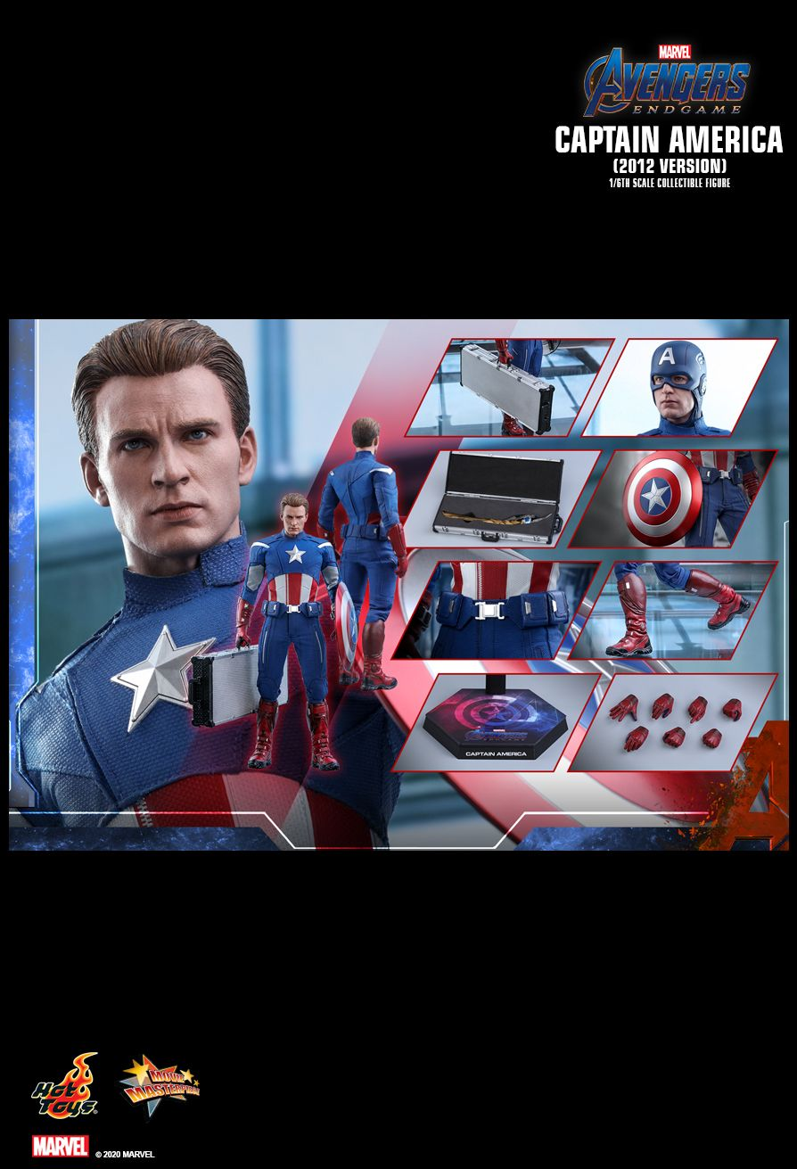 movie - NEW PRODUCT: HOT TOYS: AVENGERS: ENDGAME CAPTAIN AMERICA (2012 VERSION) 1/6TH SCALE COLLECTIBLE FIGURE 23109