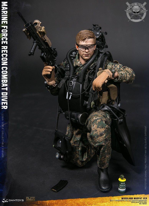 DamToys - NEW PRODUCT: DAM Toys: Marine Force Recon Combat Diver (Desert MARPAT) (GIDAM-78056) & (Woodland MARPAT) (GIDAM-78055) 2317