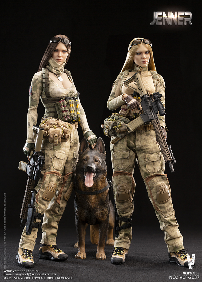 Dog - NEW PRODUCT: VERYCOOL new product: 1/6 ruin camouflage double female soldier - Jenna JENNER movable doll - A section & B section + German shepherd 23180210