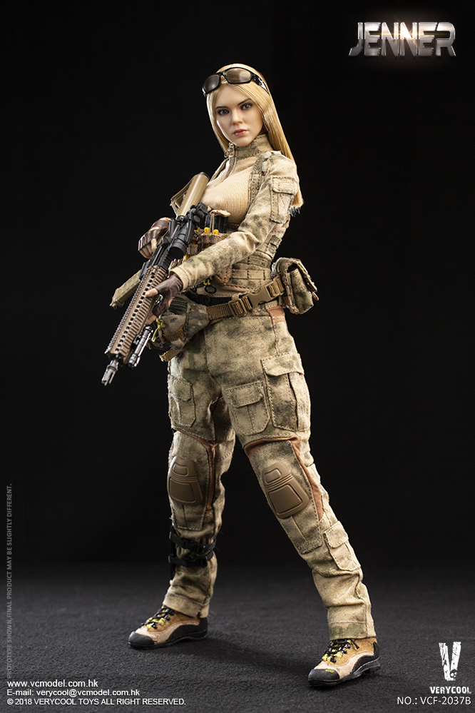 Dog - NEW PRODUCT: VERYCOOL new product: 1/6 ruin camouflage double female soldier - Jenna JENNER movable doll - A section & B section + German shepherd 23232610