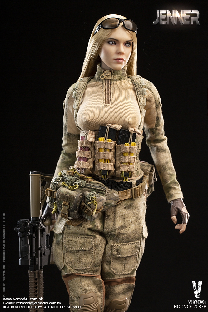 Dog - NEW PRODUCT: VERYCOOL new product: 1/6 ruin camouflage double female soldier - Jenna JENNER movable doll - A section & B section + German shepherd 23232611