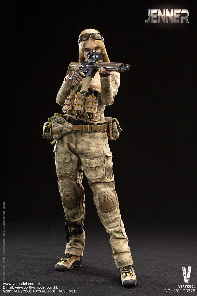 Dog - NEW PRODUCT: VERYCOOL new product: 1/6 ruin camouflage double female soldier - Jenna JENNER movable doll - A section & B section + German shepherd 23232710
