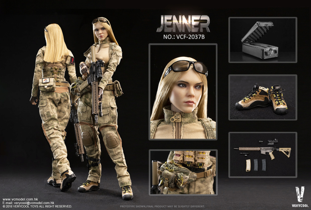 Dog - NEW PRODUCT: VERYCOOL new product: 1/6 ruin camouflage double female soldier - Jenna JENNER movable doll - A section & B section + German shepherd 23233010