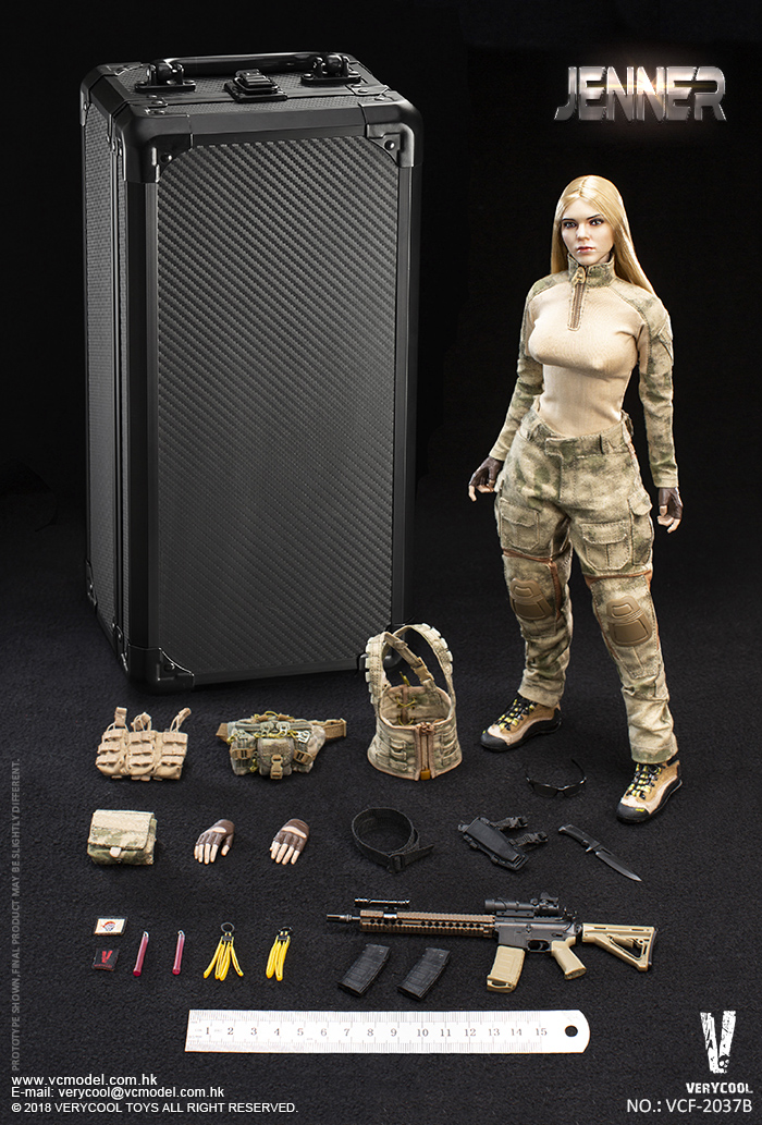 Dog - NEW PRODUCT: VERYCOOL new product: 1/6 ruin camouflage double female soldier - Jenna JENNER movable doll - A section & B section + German shepherd 23233011