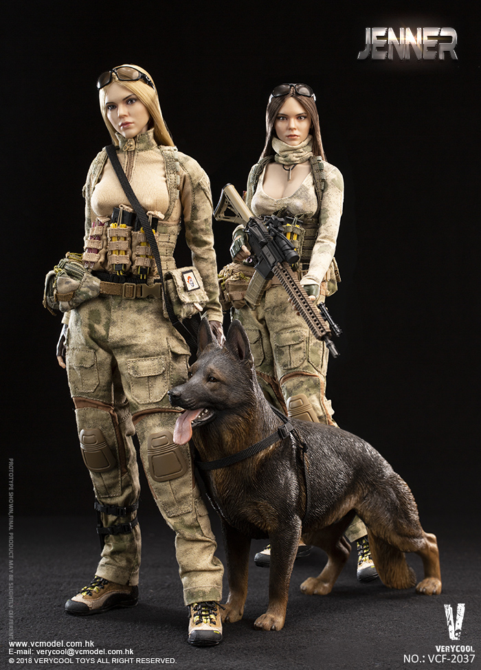 Dog - NEW PRODUCT: VERYCOOL new product: 1/6 ruin camouflage double female soldier - Jenna JENNER movable doll - A section & B section + German shepherd 23242810