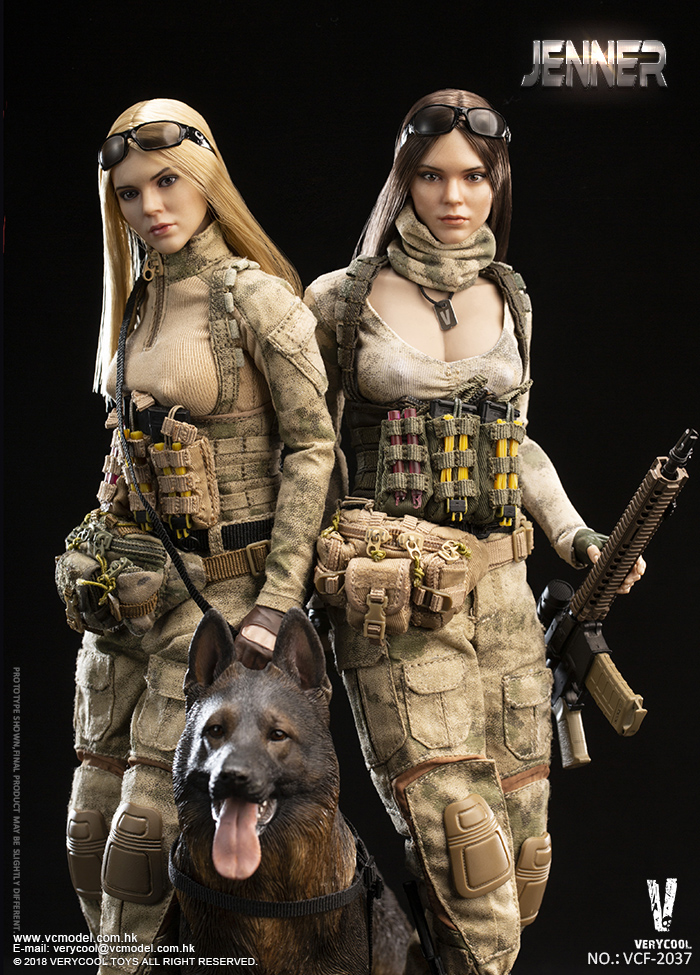 Dog - NEW PRODUCT: VERYCOOL new product: 1/6 ruin camouflage double female soldier - Jenna JENNER movable doll - A section & B section + German shepherd 23242910