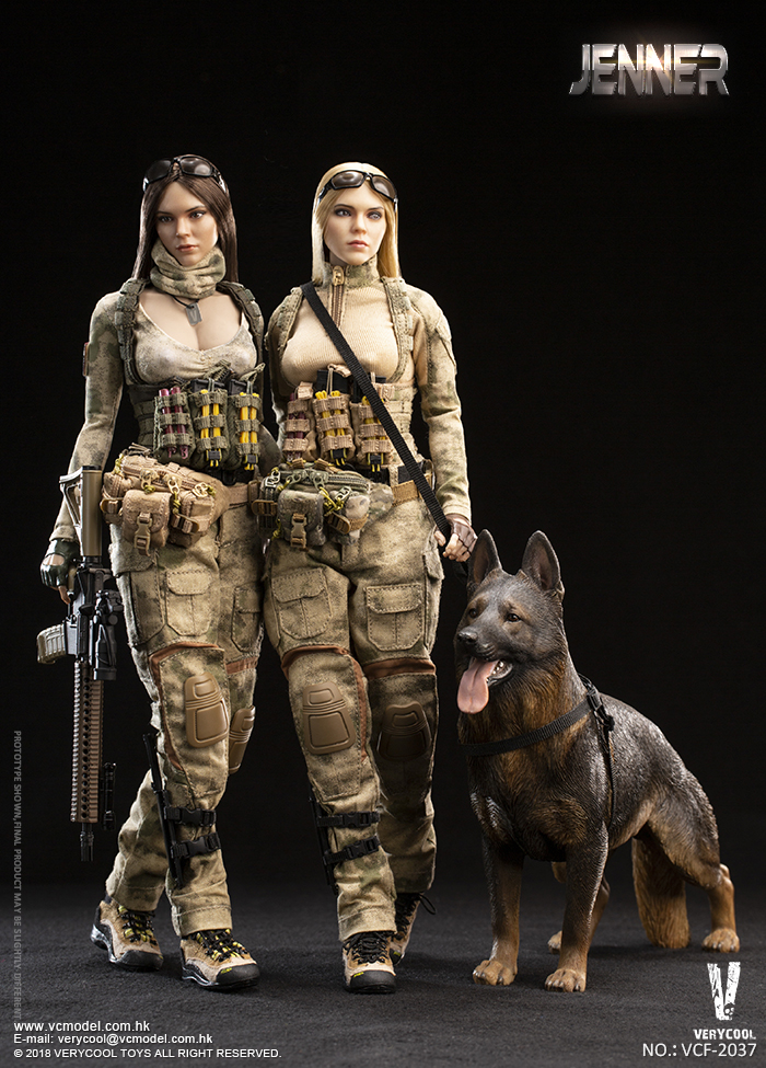 Dog - NEW PRODUCT: VERYCOOL new product: 1/6 ruin camouflage double female soldier - Jenna JENNER movable doll - A section & B section + German shepherd 23242911