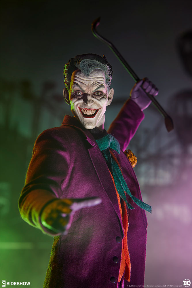 batman - NEW PRODUCT: SIDESHOW COLLECTIBLES: The Joker Sixth Scale Figure (Exclusive Laughing Head Sculpt) 2332