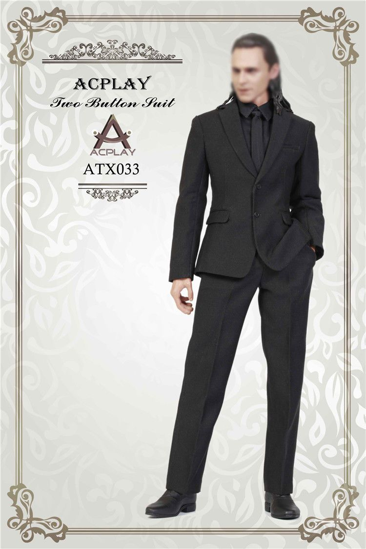 NEW PRODUCT: ACPLAY ATX033 1/6 Scale Men's Black Business Suit Set 235