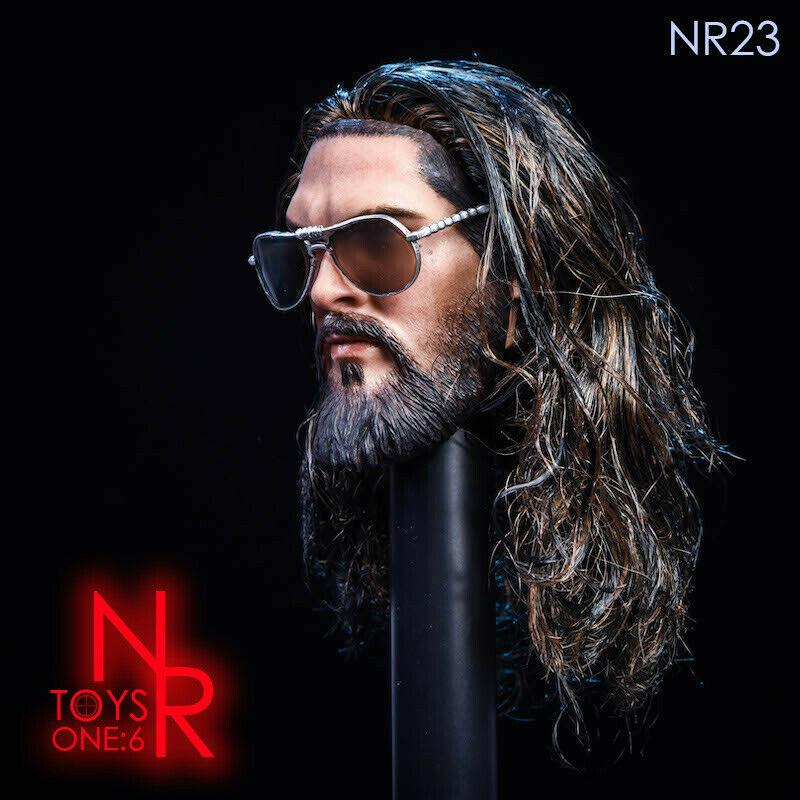 NEW PRODUCT: NRTOYS: NR23 1/6 scale Sea Prince Jason Momoa Head Sculpt HW/O Neck 2364