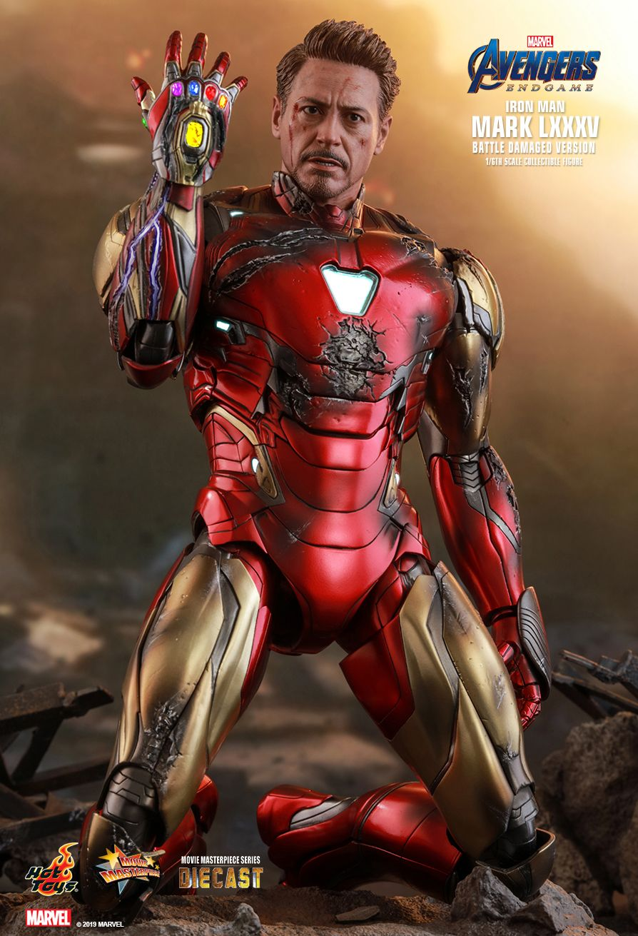 marvel - NEW PRODUCT: HOT TOYS: AVENGERS: ENDGAME IRON MAN MARK LXXXV (BATTLE DAMAGED VERSION) 1/6TH SCALE COLLECTIBLE FIGURE 2376