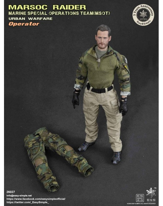 NEW PRODUCT: Easy & Simple 26027 1/6 Scale MARSOC Raider Urban Warfare Operator 24-52810