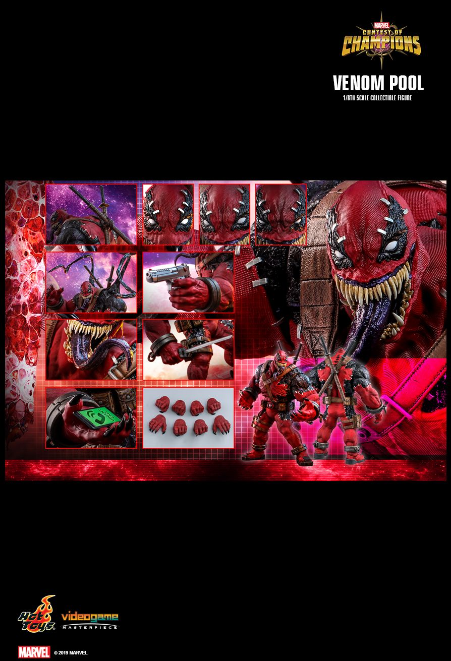 NEW PRODUCT: HOT TOYS: MARVEL CONTEST OF CHAMPIONS VENOMPOOL 1/6TH SCALE COLLECTIBLE FIGURE 2445