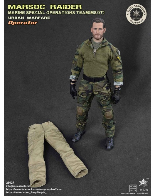 NEW PRODUCT: Easy & Simple 26027 1/6 Scale MARSOC Raider Urban Warfare Operator 25-52810