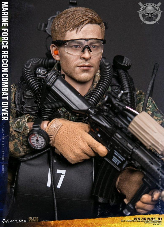 DamToys - NEW PRODUCT: DAM Toys: Marine Force Recon Combat Diver (Desert MARPAT) (GIDAM-78056) & (Woodland MARPAT) (GIDAM-78055) 2517
