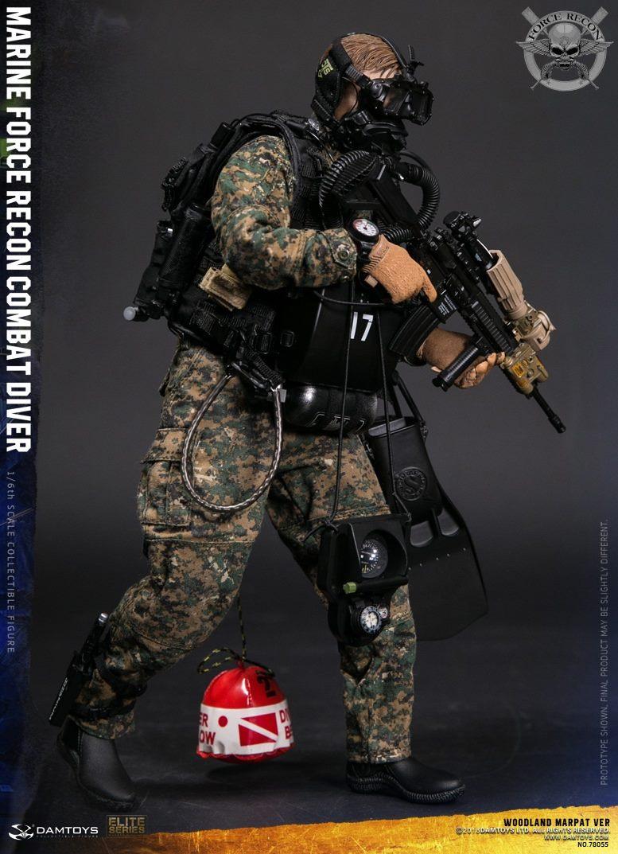 DamToys - NEW PRODUCT: DAM Toys: Marine Force Recon Combat Diver (Desert MARPAT) (GIDAM-78056) & (Woodland MARPAT) (GIDAM-78055) 253