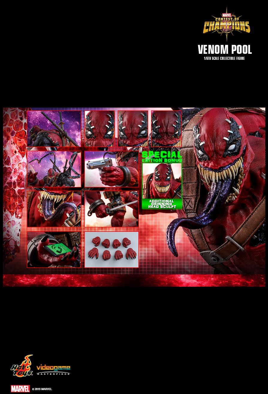 NEW PRODUCT: HOT TOYS: MARVEL CONTEST OF CHAMPIONS VENOMPOOL 1/6TH SCALE COLLECTIBLE FIGURE 2539