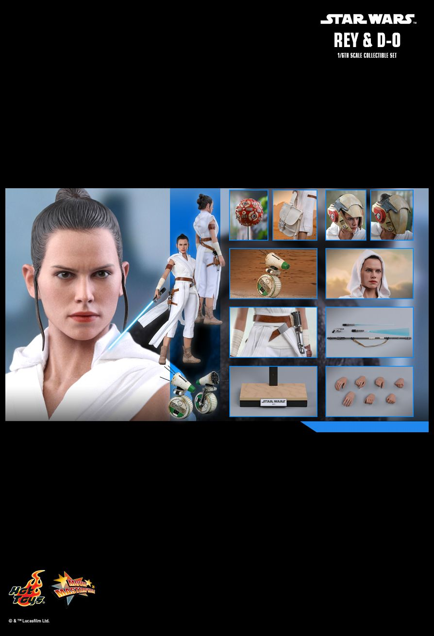 Rey - NEW PRODUCT: HOT TOYS: STAR WARS: THE RISE OF SKYWALKER REY AND D-O 1/6TH SCALE COLLECTIBLE FIGURE 2543