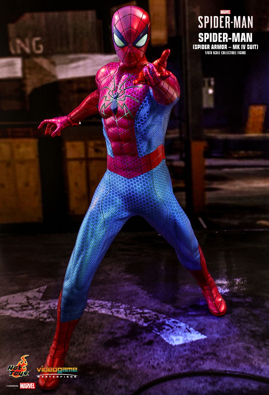 videogame - NEW PRODUCT: HOT TOYS: SPIDER-MAN (SPIDER ARMOR - MK IV SUIT) MARVEL'S SPIDER-MAN 1/6TH SCALE COLLECTIBLE FIGURE 2586