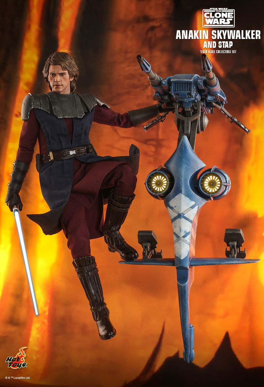 Sci-Fi - NEW PRODUCT: HOT TOYS: STAR WARS: THE CLONE WARS ANAKIN SKYWALKER AND STAP 1/6TH SCALE COLLECTIBLE SET 2596
