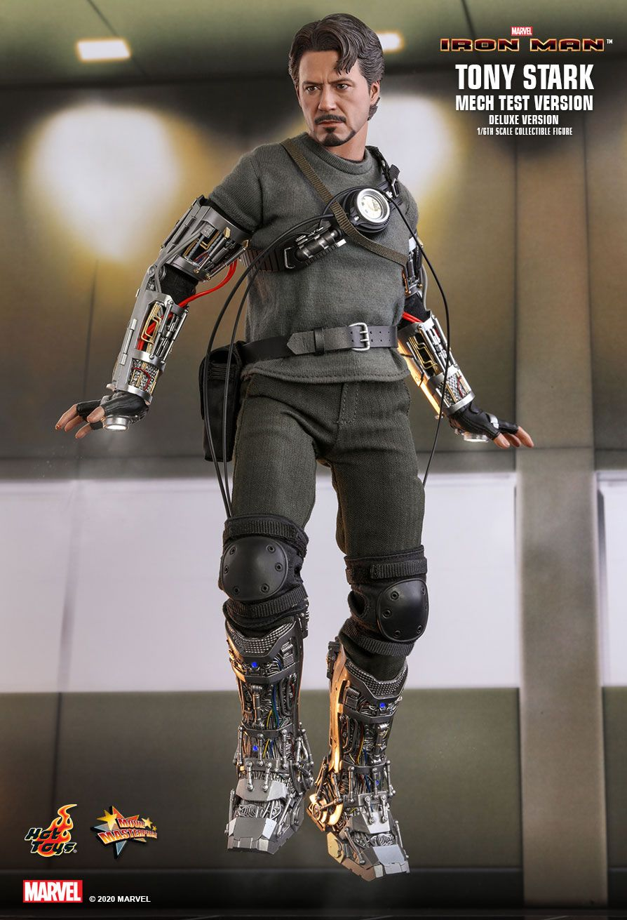 movie - NEW PRODUCT: HOT TOYS: IRON MAN TONY STARK (MECH TEST VERSION) (DELUXE VERSION) 1/6TH SCALE COLLECTIBLE FIGURE 2599